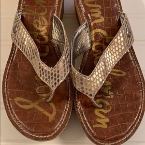 Sam Edelman gold colored wedge sandals size 8.5